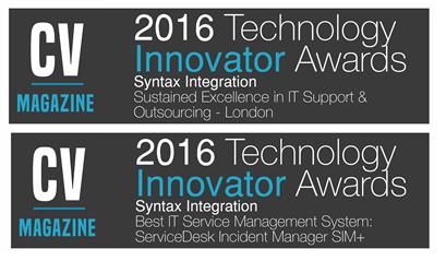 2016 Technology Innovator awards